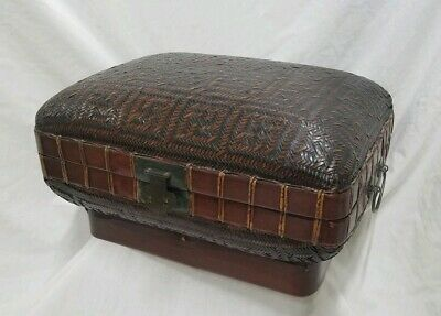 Antique Chinese Bamboo Document Chest Qing Dynasty Circa 1880