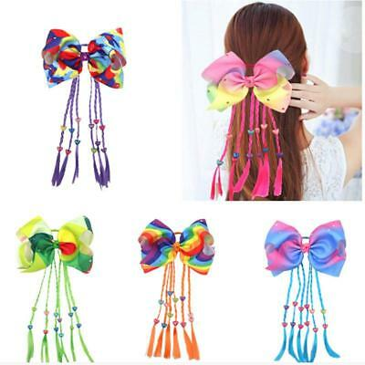 ODS Rainbow Signature Hair Bow DIAMANTES Ribbon Boutique Noeud Clip Strass