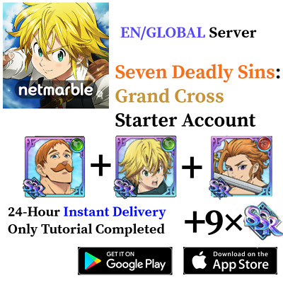 [GLOBAL] Green Escanor + Meliodas Arthur | Seven Deadly Sins Grand Cross Account