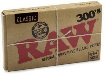 Translucent Ultra Thin Raw Rolling Papers Classic 1.25 1/4 Size 300 Leaves 1Pack