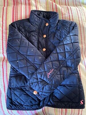 Joules Girls Navy Quilted Jacket age 4 years - Beautiful Condition