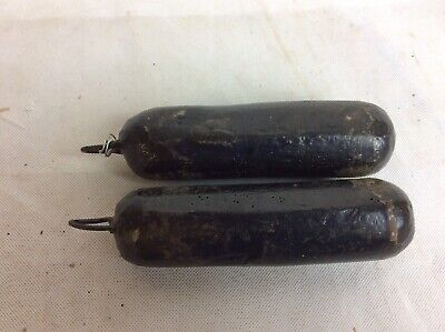 Pair Of Good Longcase Grandfather Clock Lead Weights