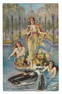 , Allegorical Painting Alaska-Yukon-Pacific Exposition posted 1909