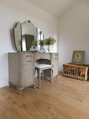 Vintage dressing table and stool set