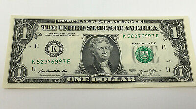 $1 BILL WITH JEFFERSON'S FACE - REAL Money!
