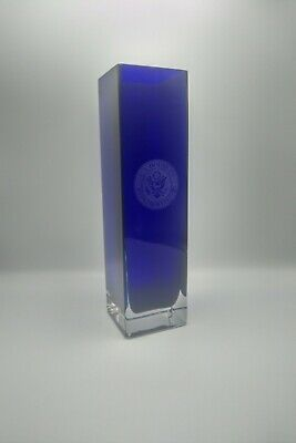 "House of Representatives - Blue Vase - 12.5"" x 3.5"" - Used - A2"