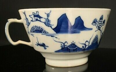 Antique Chinese Porcelain Blue & White Canton Export Tea Cup