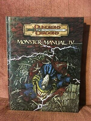 Dungeons & Dragons (D&D) Monster Manual IV d20 3.5 Edition