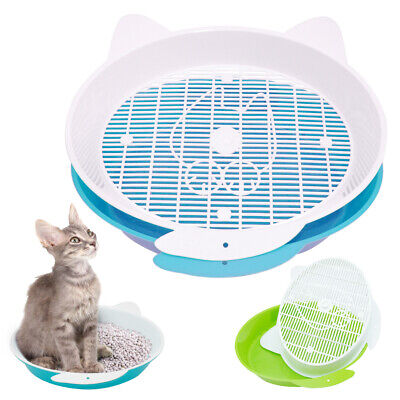 Sifting Cat Litter Box Liners Plastic Pet Kitten Pan Tray Toilet Training Clean