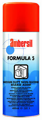 Ambersil 31540 Formula Five Light Duty Dry Film Non-Silicone Release Agent 400Ml