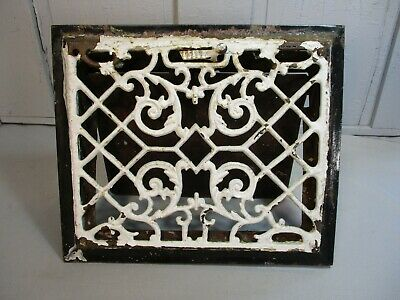 Antique Wall Vent, Working Condition, Iron w/ Ornate Design, Flap Opens & Closes