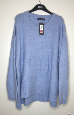 Marks And Spencer Relaxed Supersoft Roundneck Jumper Size XL M&S Pale Blue