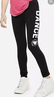 New Justice Girls Dance Leggings 18/20 Black And white 💜💜