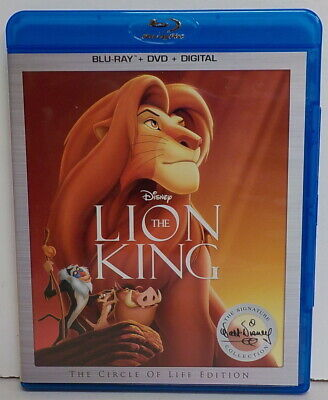 The Lion King - Blu-ray/DVD, 2017, 2-Disc Set - no digital copy