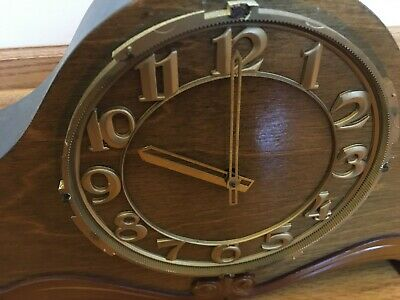 Vintage Mantel Clock Chimes Key Wind with Key. Made in USSR