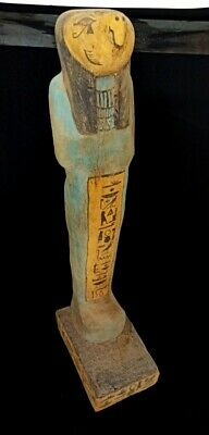 Horus Statue Egyptian God Falcon Ancient Figurine Sculpture Carved hieroglyphic