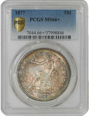 1877 Trade Dollar $ MS66+ Secure Plus PCGS 941228-20