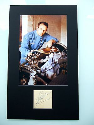 John Surtees Genuine Hand Signed Autograph 1960 Bikes Lotus F1 Photo Mounted Coa