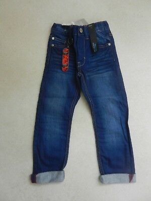 BNWT Next Boys Trendy Regular Fit Jeans + Keyring Age 4 Years Adjustable Waist