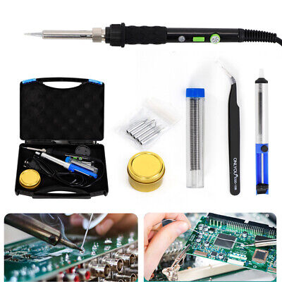 Industrial WEP 60W Electric Soldering Iron Kit Solder Welding Rework Tool AU hot