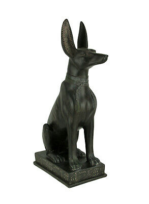 Zeckos Dark Green Stone Finish Anubis Egyptian Jackal God 14 inch Statue