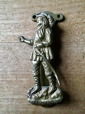 Brass Door Knocker Earl Of Derby  Hardware Salvage Vintage Small