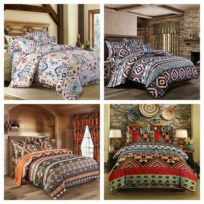 Ethnic Floral Duvet Cover Set For Comforter Queen King Size Bedding Set