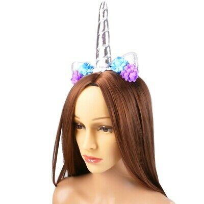 Multicoloured UNICORN HEADBAND Holiday Summer Clubbing Festival Rave Techno UK