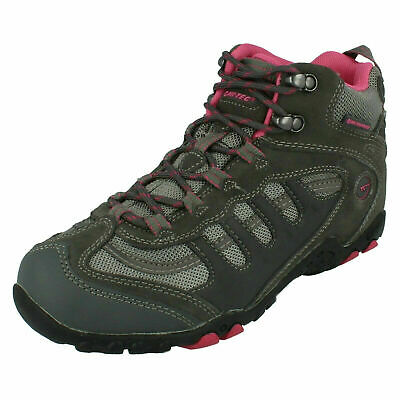 Ladies Hi Tec Penrith Mid Wp Womens Lace Up Hiking Walking Ankle Boots Size