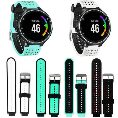WO_ Silicone Wrist Watch Band Straps For Garmin Forerunner 220 230 235 620 630 7