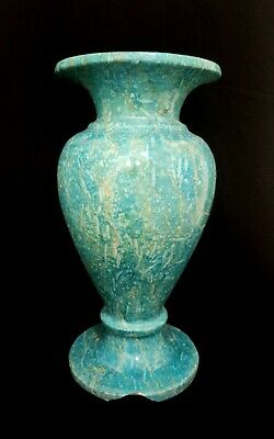 Blue Vase Faience Vessel Egyptian Ancient Egypt Stone Old Kingdom Bc Antique