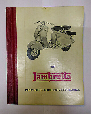 Vintage Lambretta Scooter Instruction Book & Service Manual Hard Cover