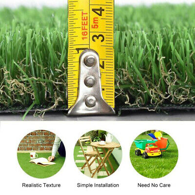 Artificial Grass Turf Garden Lawn Realistic Natural Replacement For Astro Turf