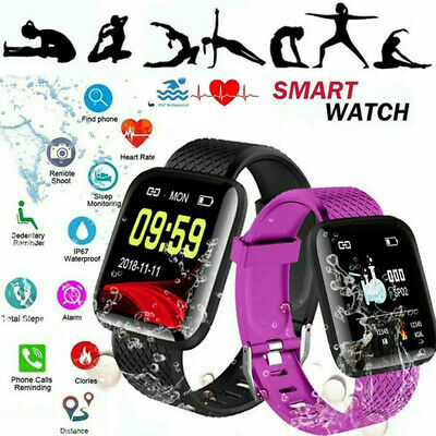 116Plus Fitness Tracker Smart Watch bluetooth Heart Rate Blood Pressure Monitor