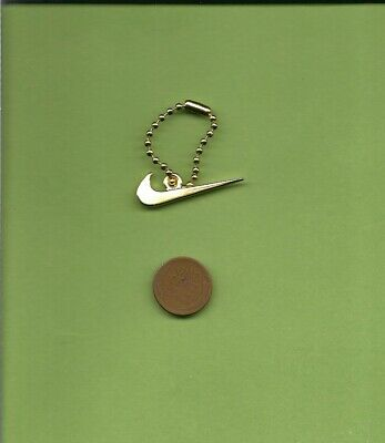 Authentic Metal Gold Nike Swoosh Key Chain Hang Tag