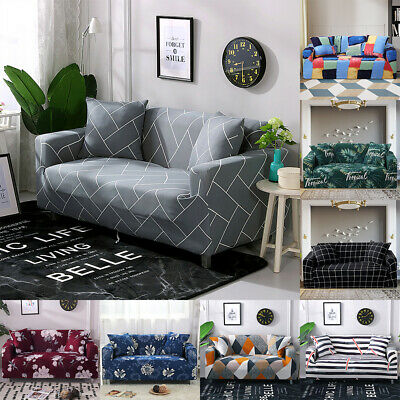 Lounge Protector Slipcovers Super Stretch Sofa Cover Couch 1/2/3 Seater Covers