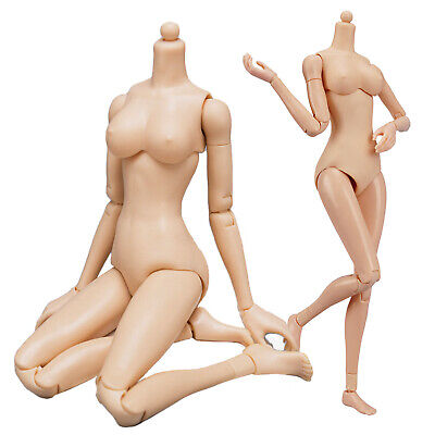 "1/6 Female Body Middle Bust Breast for 12"" Hot Toys Figure Phicen Verycool Kumik"