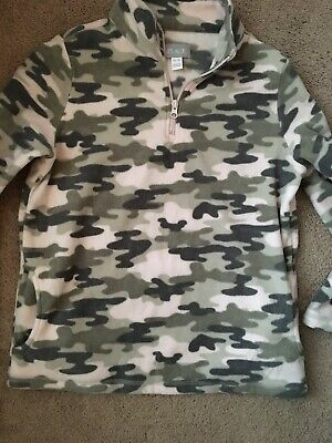 Girls Pink Camo Fleece Top Jacket XL 14 Children's Place EUC Pockets Zip Youth