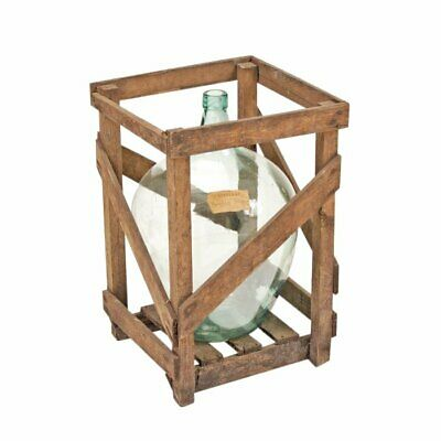 Vintage Demijohn with Crate