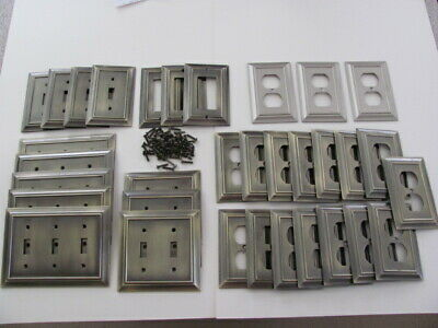 Antique Brass Electrical Wall Plates-33, 1,2,3 Gang,Switch, Gfi, & Outlet, Used