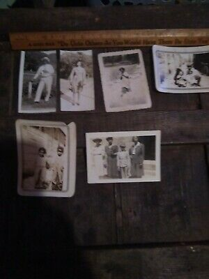 Antique African American Photo lot of 6 from  El Paso Texas