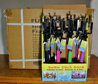 Lot of 47 selfie Click sticks by Funsparks IOS or Android New in Box for resale