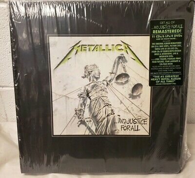 METALLICA - And Justice For All 6 x Vinyl LP Box Set + 11 CDS DVDS Records NEW