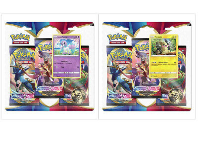 Pokemon TCG Sword and Shield 2 Blister Packs Ponyta + Morpeko Promos PRESALE