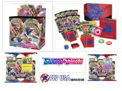 Pokemon TCG Sword and Shield ULTIMATE TRAINER KIT Booster Box + Elite + Blisters