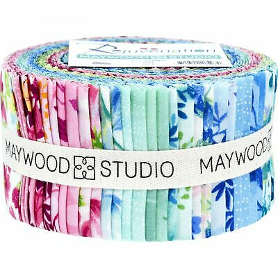 2.5 inch Painted Garden jelly roll cotton fabric quilt strips