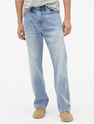 NWT Gap Relaxed Jeans with GapFlex Vintage Light Wash, 36x34