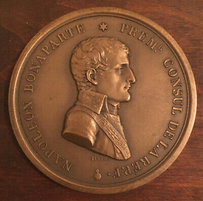 Antique NAPOLEON Bronze JOAN OF ARC Medal MEDALLION by Augustine DUPRE 1800's