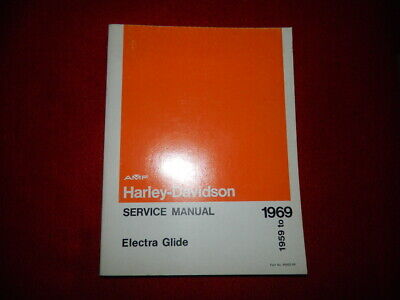 Harley Davidson Service Manual 1959 to 1969 Electra Glide Duo Glide Panhead
