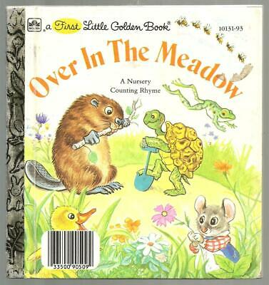 Children's First Little Golden Book OVER IN THE MEADOW a Nursery Counting Rhyme